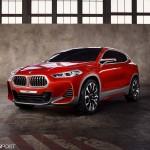 BMW X2 コンセプトモデル発表。エンブレムの数が倍になってる笑